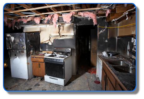 Image - Fire Damage - Fire Restoration - Serving:  Corte Madera, Fairfax, Kentfield, Larkspur, Lagunitas, Mill Valley, Novato, Petaluma, Ross, San Anselmo, San Francisco Bay Area, Sausalito, and Tiburon, California.